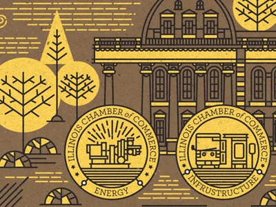 Illustration illustration certificate badge detail