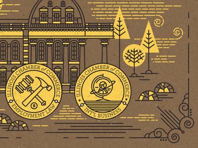 Illustration II illustration certificate badge detail
