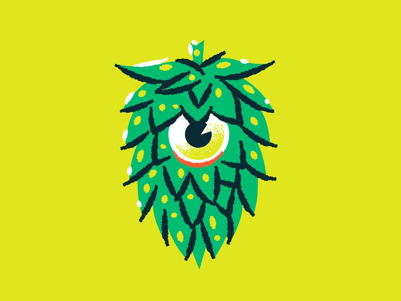Illustration monster hop halloween reve