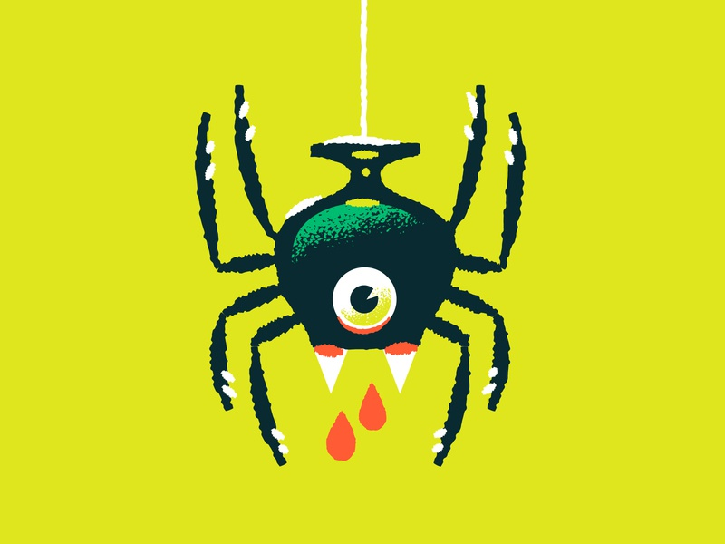 Illustration halloween spider snifter reve beer