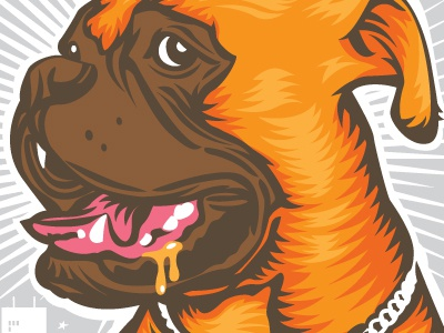 Duke's Cold Nose Brown Ale beer label duke bold city brewery illustration