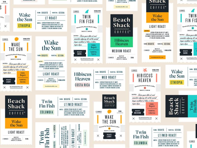 Label Design coffee label beach shack coffee