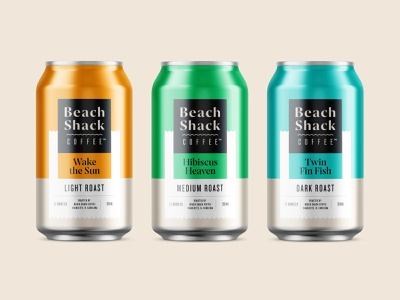 Packaging cold brew can coffee packaging