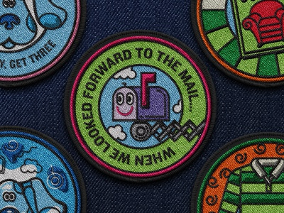 Patch brand book nickelodeon illustration blues clues patch