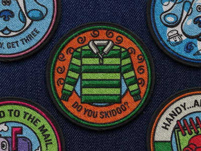 Patch III illustration brand book nickelodeon blues clues patch