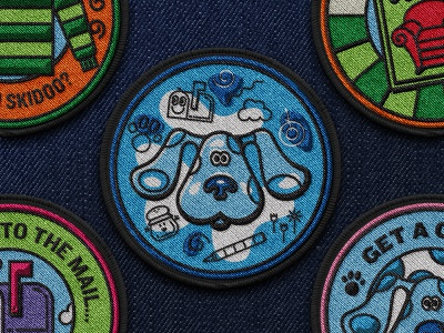 Patch IV illustration brand book nickelodeon blues clues patch