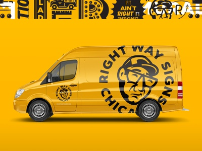 Right Way Signs V van vehicle wrap branding graphic system