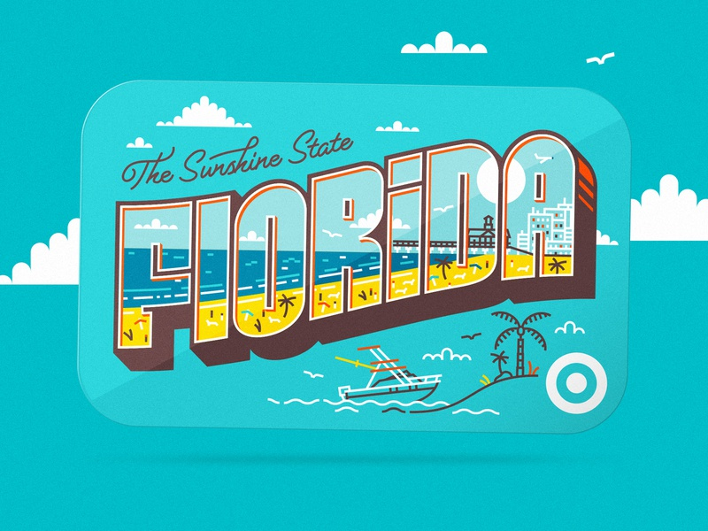 Target Gift Card illustration type florida gift card
