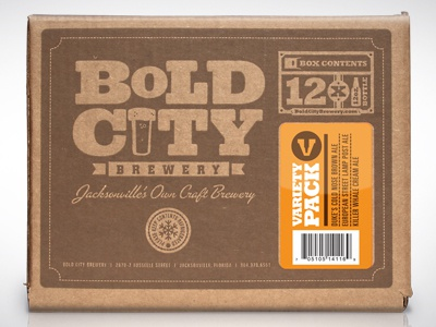 Bold City Brewery 12-pack box beer packaging box 12pack bold city brewery