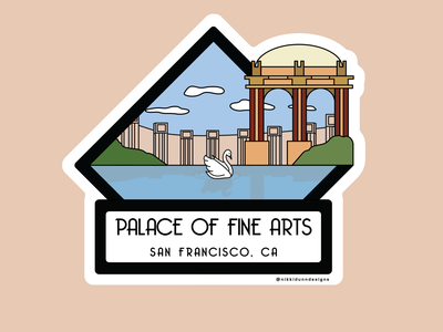 Palace of Fine Arts - Sticker Design sitcker design stickers san francisco palace of fine arts wacom vector illustration design adobe