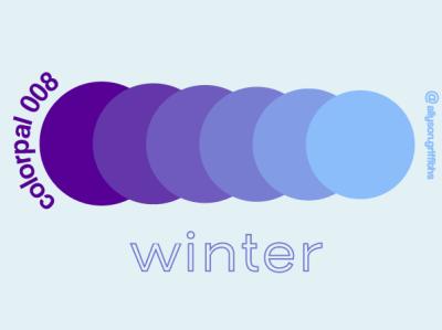 Winter Daily Color Palette colorswatch vector design illustration color swatch color schemes colorscheme color palette colorpalette typography