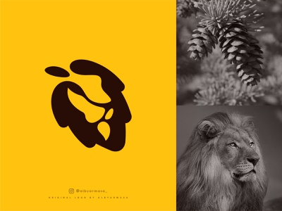 pinecone lion logo logos wild animal ideas inspiration designs pines pinecone lion head lion simple silhouette logo for sale design buy logo proffesional simple logo illustration brand logo