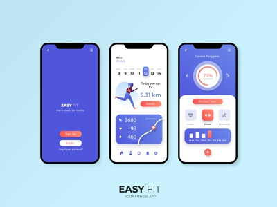 App Concept - Fit app. Fitness yoga apps. fitness productdesign product branding minimal ux web app uidesign uiux ui