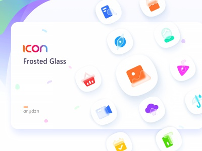 Frosted Glass Icon user video home music picture weather frosted glass website icon sketch illustrator flat