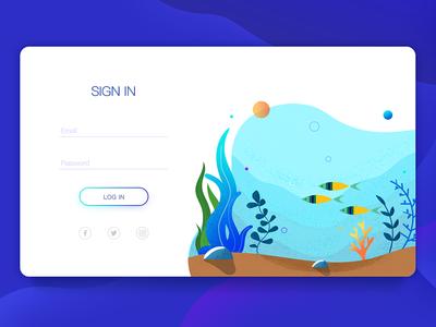 LOGIN web ui login illustrator flat