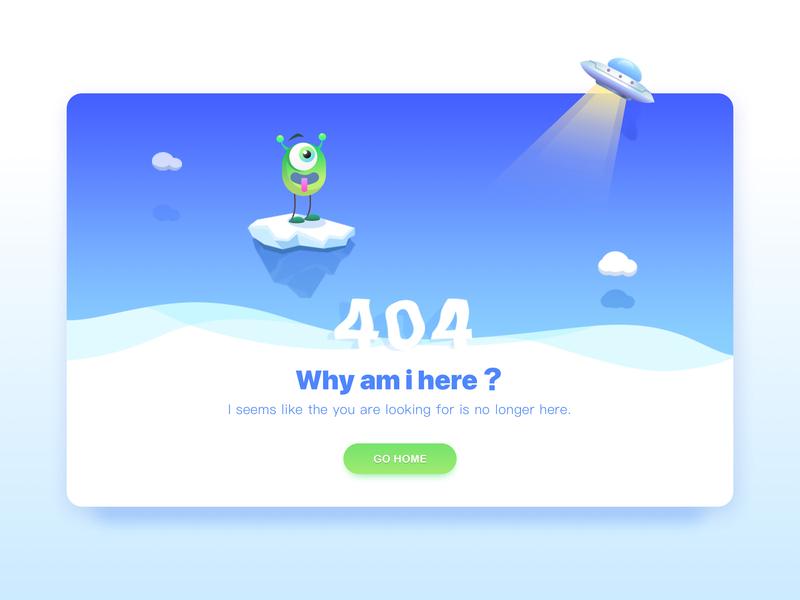 404 Page 404 landscape app illustration flat ui