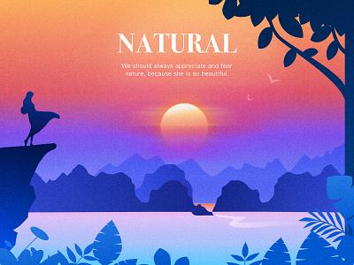 Natural landscape illustrator