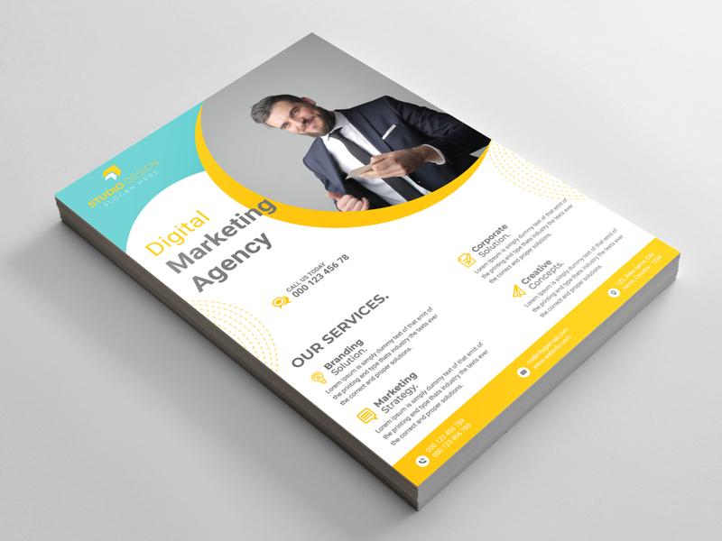 Modern Business Flyer brochure design brand identity design business logo promotion office flyer corporate flyer branding agency design