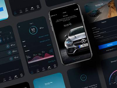 App Design - Mercedes Me ui uiux uidesignchallenge uidesigns app automotive cars uidaily uidesign motiongraphic