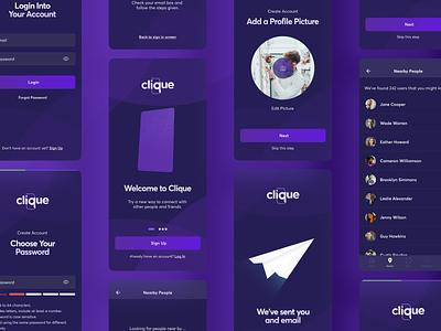App Design - Clique uiux uidesign app ui