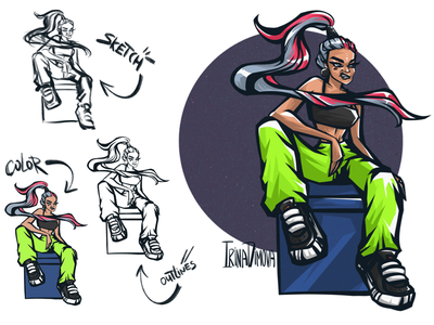 Character Design girl animation street style toxic illustration character design original character character