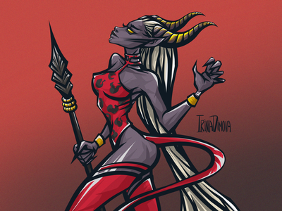Devil game design game female character character design animation red original character character illustration devil