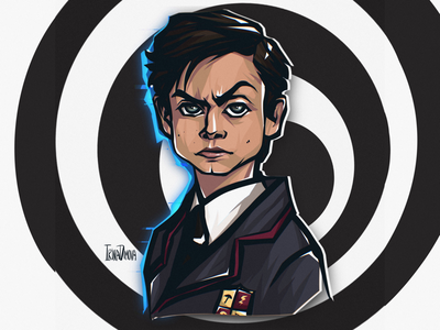 Number Five From Umbrella Academy movie art character concept illustration sticker artist sticker art sticker fan art number five character character design umbrella academy netflix