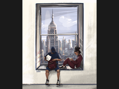 Students painting character art character design characters window cover art cover illustrator illustration drawing digital art digital
