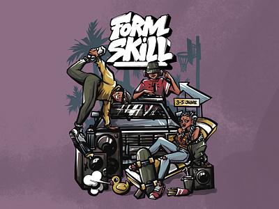 Poster For Hip-Hop Festival hip-hop poster girl illustration design cover original character stickers animation digital art illustration character character design