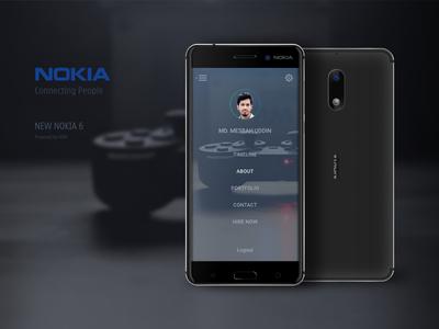 Nokia 6 Mockup Vector Illustration in Affinity Designer