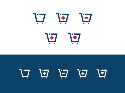 Little Trolley Icons ux ui website illustrator web vector minimal logo illustration icon graphic design flat design branding app