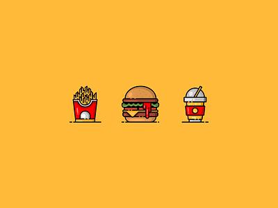 Food & Drink Icons website ux ui illustrator clean art web vector minimal logo illustration icon graphic design flat design branding app