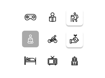 Holiday icons set ( preview ) website web vector ux ui minimal logo illustrator illustration icon graphic design flat design clean branding art app