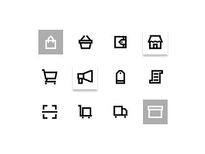 Ecommerce icons set ( preview ) website ux illustrator clean art ui web vector minimal logo illustration icon graphic design flat design branding app