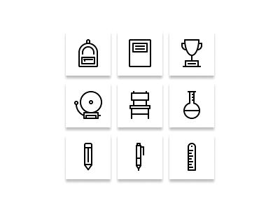 Back to school icon ( preview ) website web ux ui vector minimal logo illustrator illustration icon graphic design flat design clean branding art app