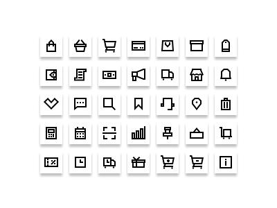 Ecommerce icons set 01 website web vector ux ui minimal logo illustrator illustration icon graphic design flat design clean branding art app