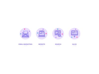 Marketing Growth icon website web vector ux ui minimal logo illustrator illustration icon graphic design flat design branding app