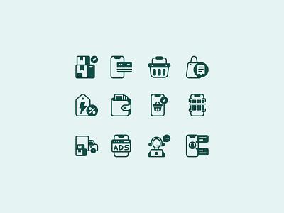 Ecommerce Icon set vector logo ui illustration icon flat graphic design design branding app