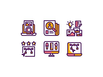 Graphic Design Icon Set mobile website web icon set minimal vector ui logo illustration icon graphic design flat design branding app