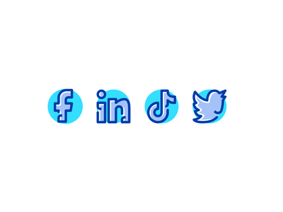 Social Media Icon minimal website web social media vector ui logo illustration icon flat graphic design design branding app