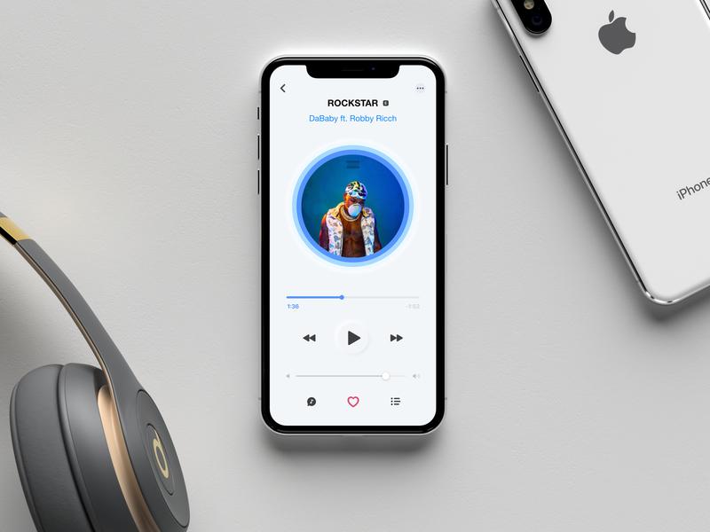 Daily UI #009 - Music Player apple music itunes music artwork music app music player app music player ui music player illustration ios ui minimal ui daily design daily ui dailyui