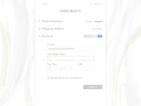 DailyUI #2 Credit Card Checkout