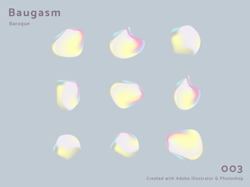 Baugasm Poster 003 gradient abstract poster pearls baugasm