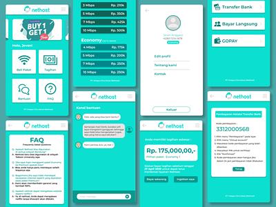 Nethost App green service design ui design app app