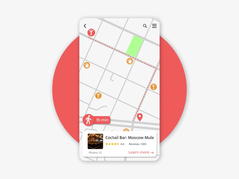 Location Tracker tracking app tracker location app mobile dailyui ux daily ui design