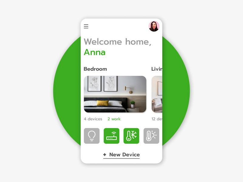 Home Monitoring smart monitoring home green dailyui ux daily ui design