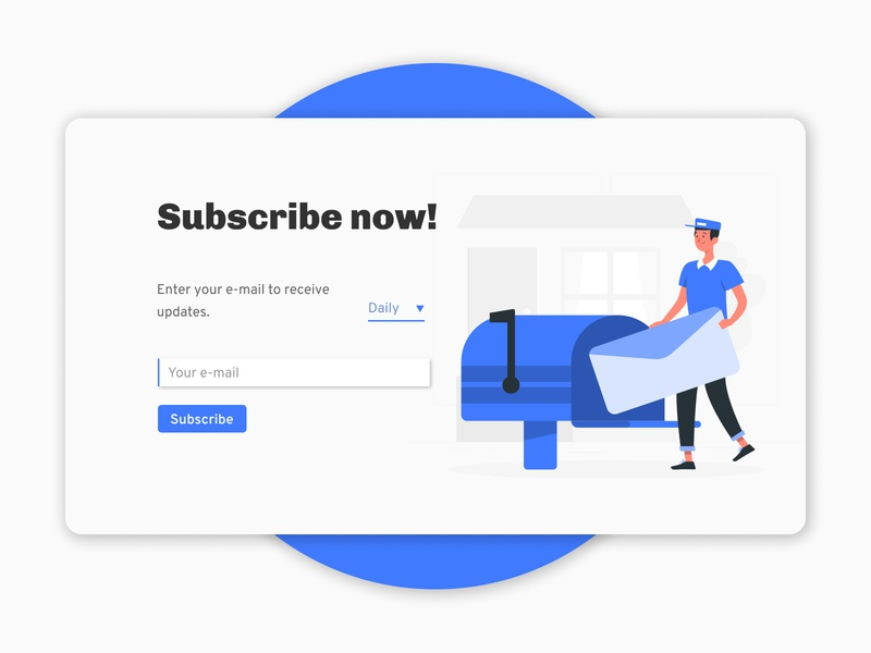 Subscribe button form blue dailyui ux ui daily design