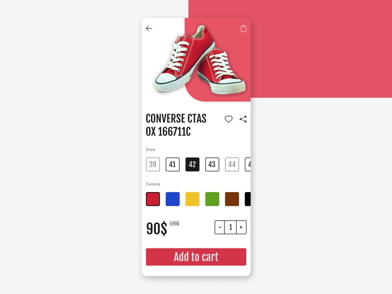 Customize Product commerce ecommerce sneakers product customize shop shoes red mobile dailyui ux daily ui design