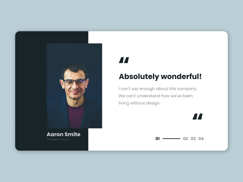 Testimonials website web shot testimonials blue dailyui ux daily ui design