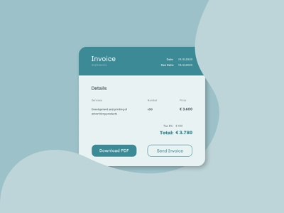 Invoice 046 form invoice dailyui ux daily ui design